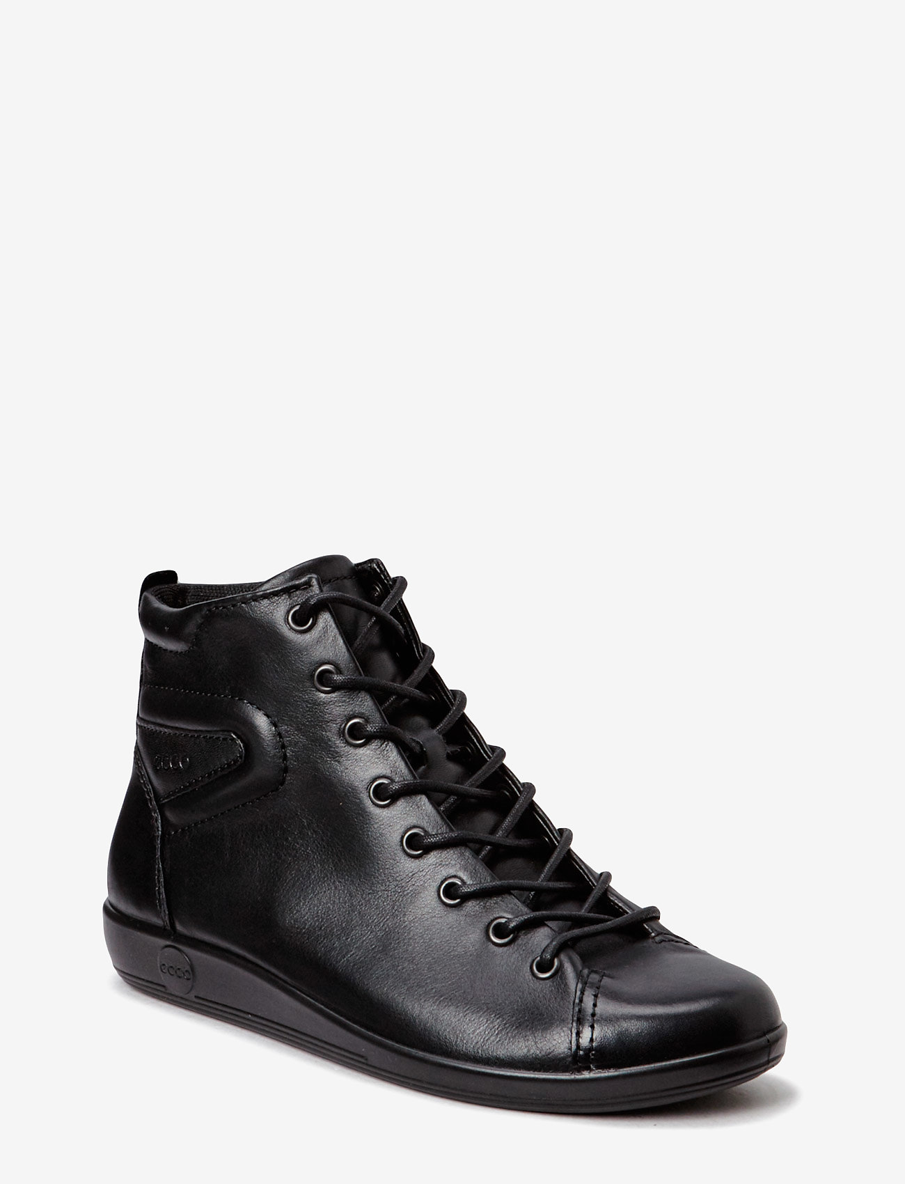 ECCO - SOFT 2.0 - sportiska stila apavi ar paaugstinātu potītes daļu - black with black sole - 0