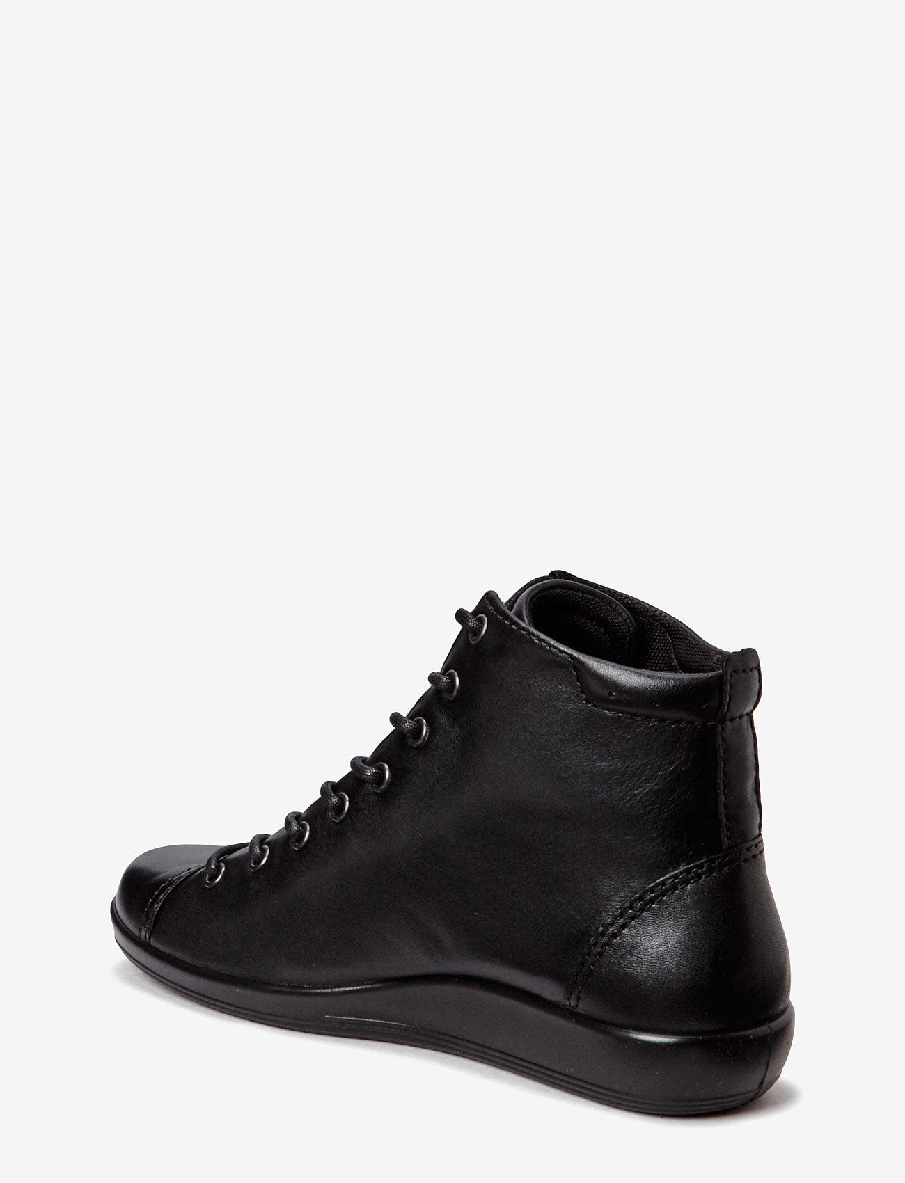ECCO - SOFT 2.0 - sportiska stila apavi ar paaugstinātu potītes daļu - black with black sole - 1