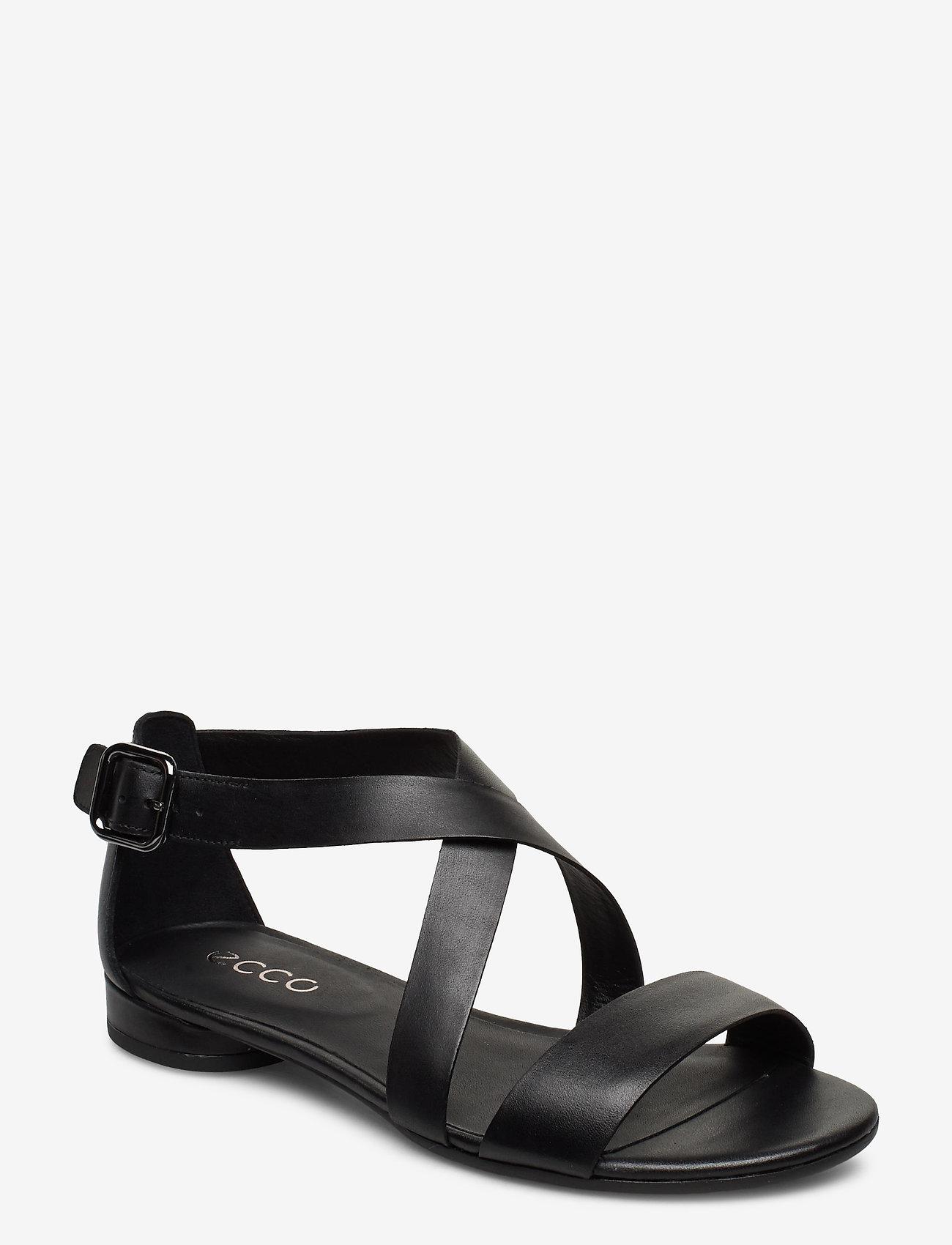 ECCO - W FLAT SANDAL II - flat sandals - black - 0