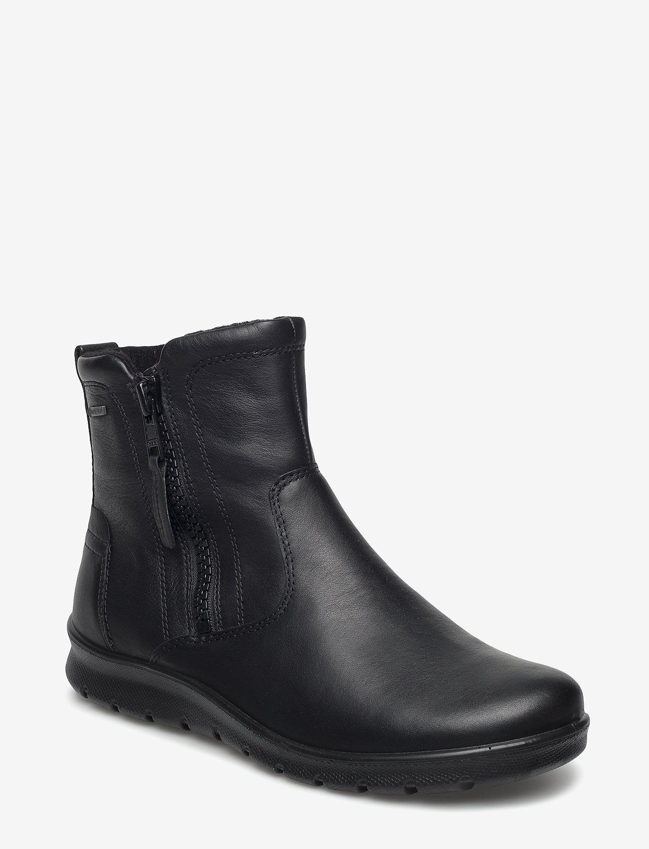 ECCO - BABETT BOOT - flade ankelstøvler - black - 0