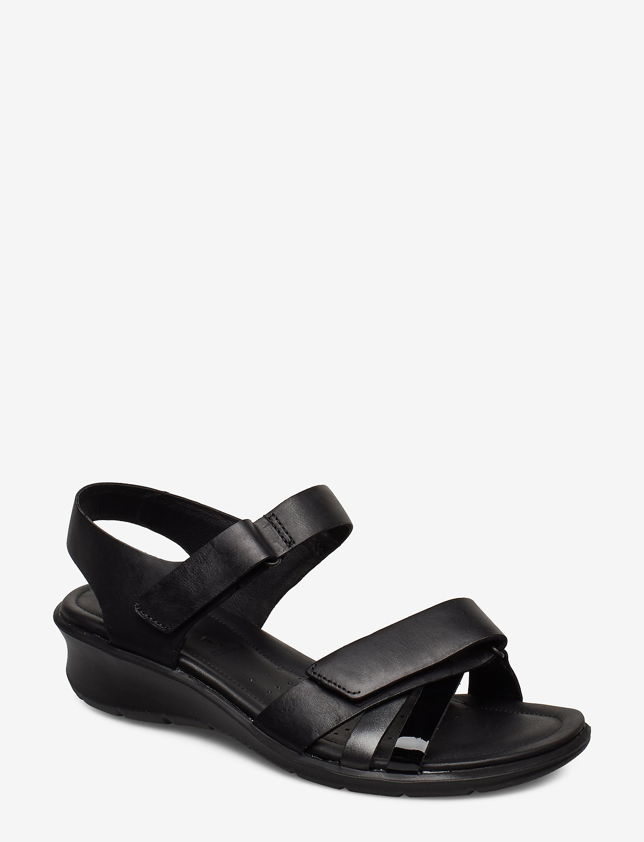 ECCO - FELICIA SANDAL - flat sandals - black/black dark shadow metallic/black - 0