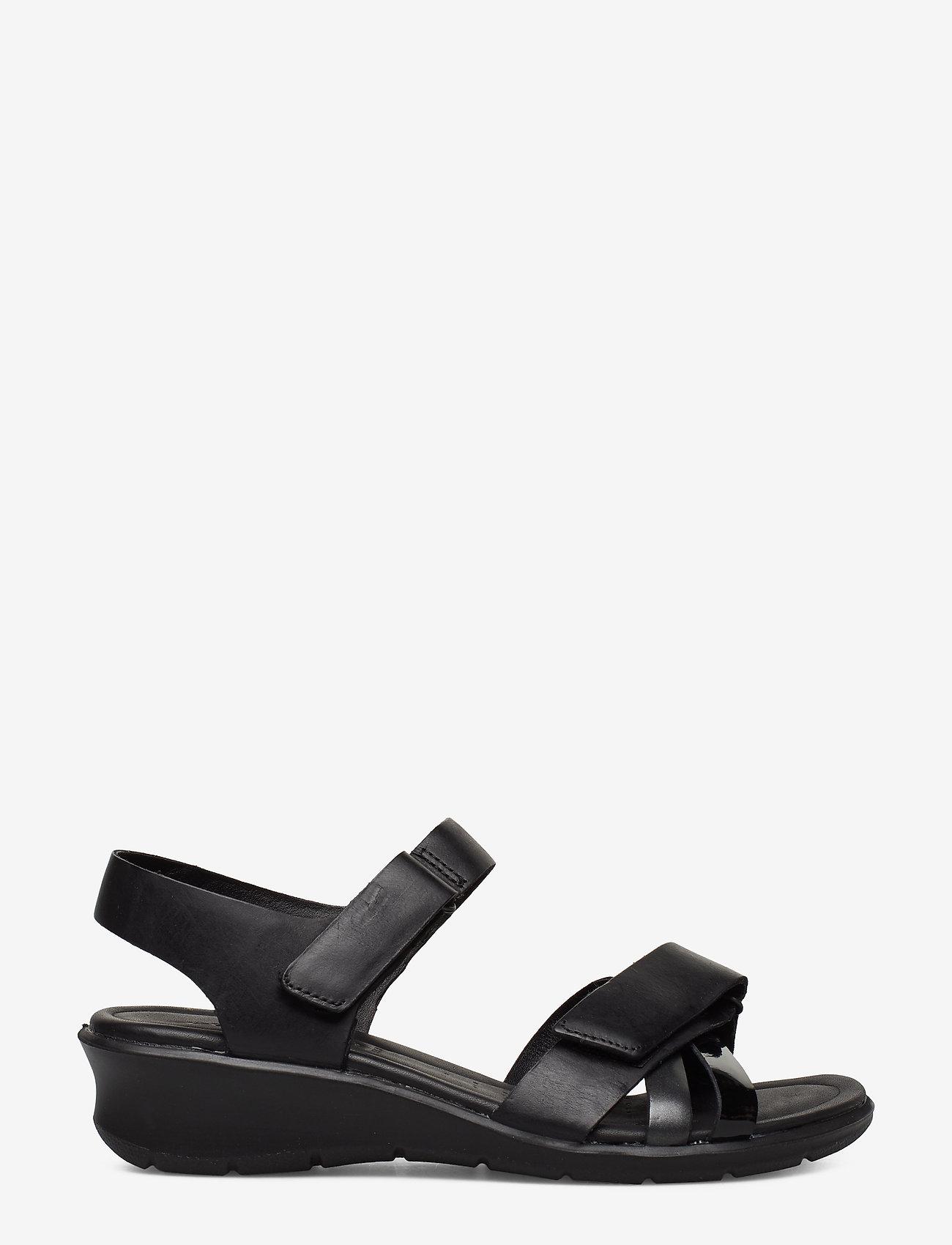 ECCO - FELICIA SANDAL - flat sandals - black/black dark shadow metallic/black - 1