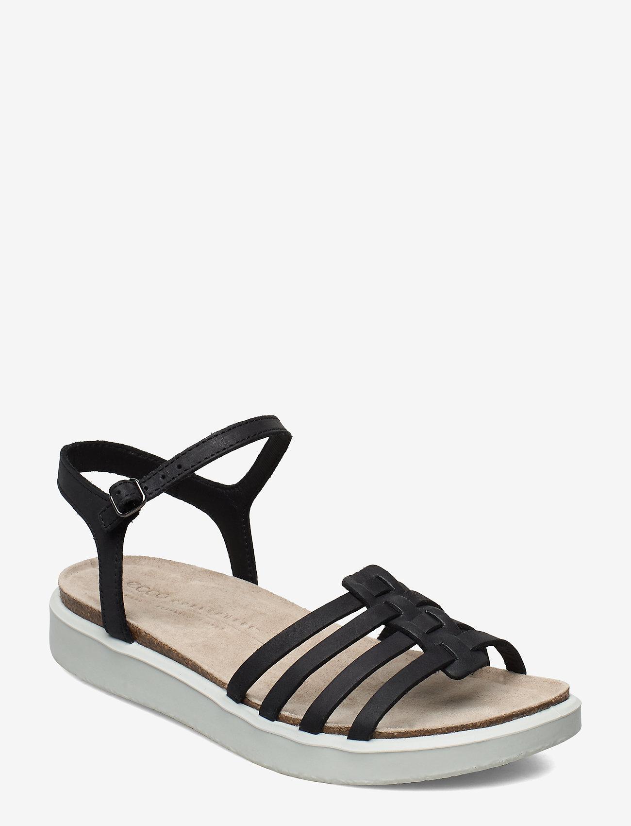 ECCO - CORKSPHERE SANDAL - flat sandals - black - 0