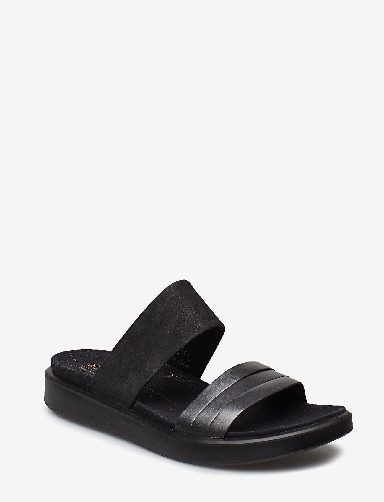 ECCO - FLOWT W - flat sandals - black dark shadow metallic/black - 0