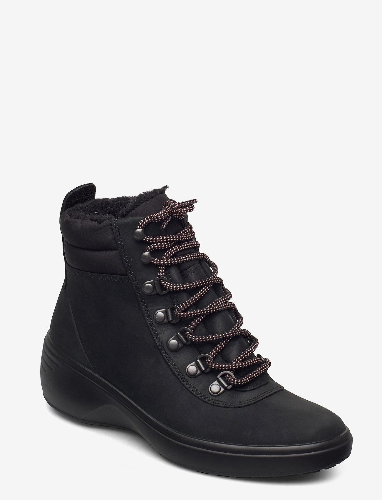 ECCO - SOFT 7 WEDGE TRED - flade ankelstøvler - black/black - 1