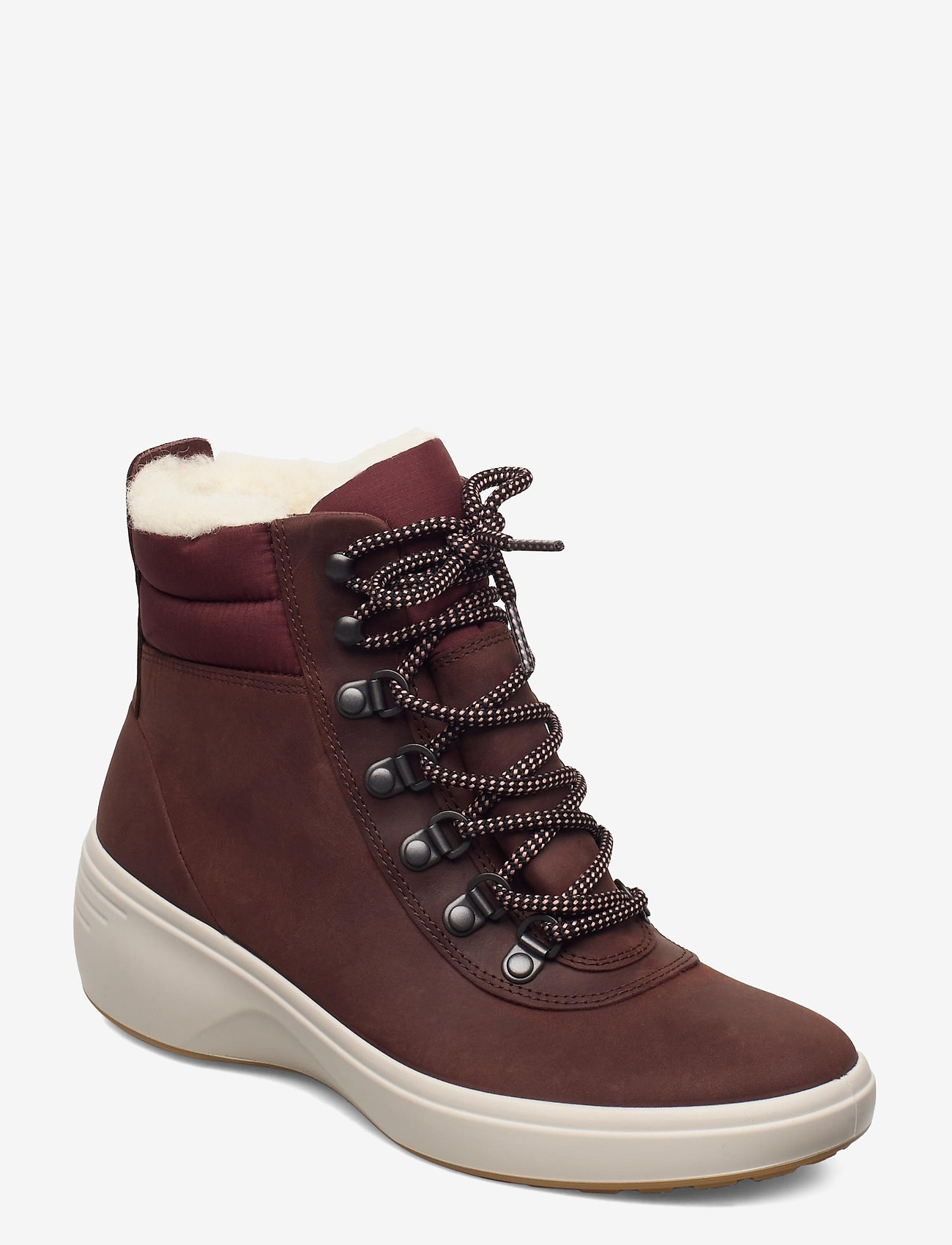 ECCO - SOFT 7 WEDGE TRED - flat ankle boots - chocolate/chocolate - 0
