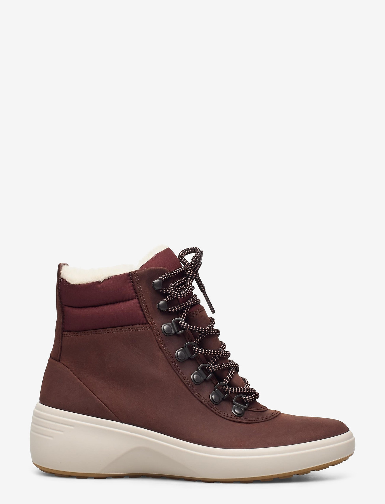 ECCO - SOFT 7 WEDGE TRED - flat ankle boots - chocolate/chocolate - 1