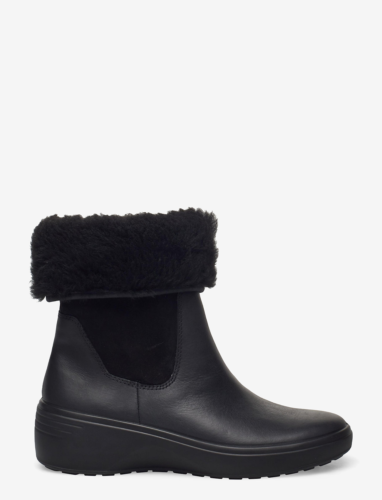 ECCO - SOFT 7 WEDGE TRED - flat ankle boots - black/black - 1