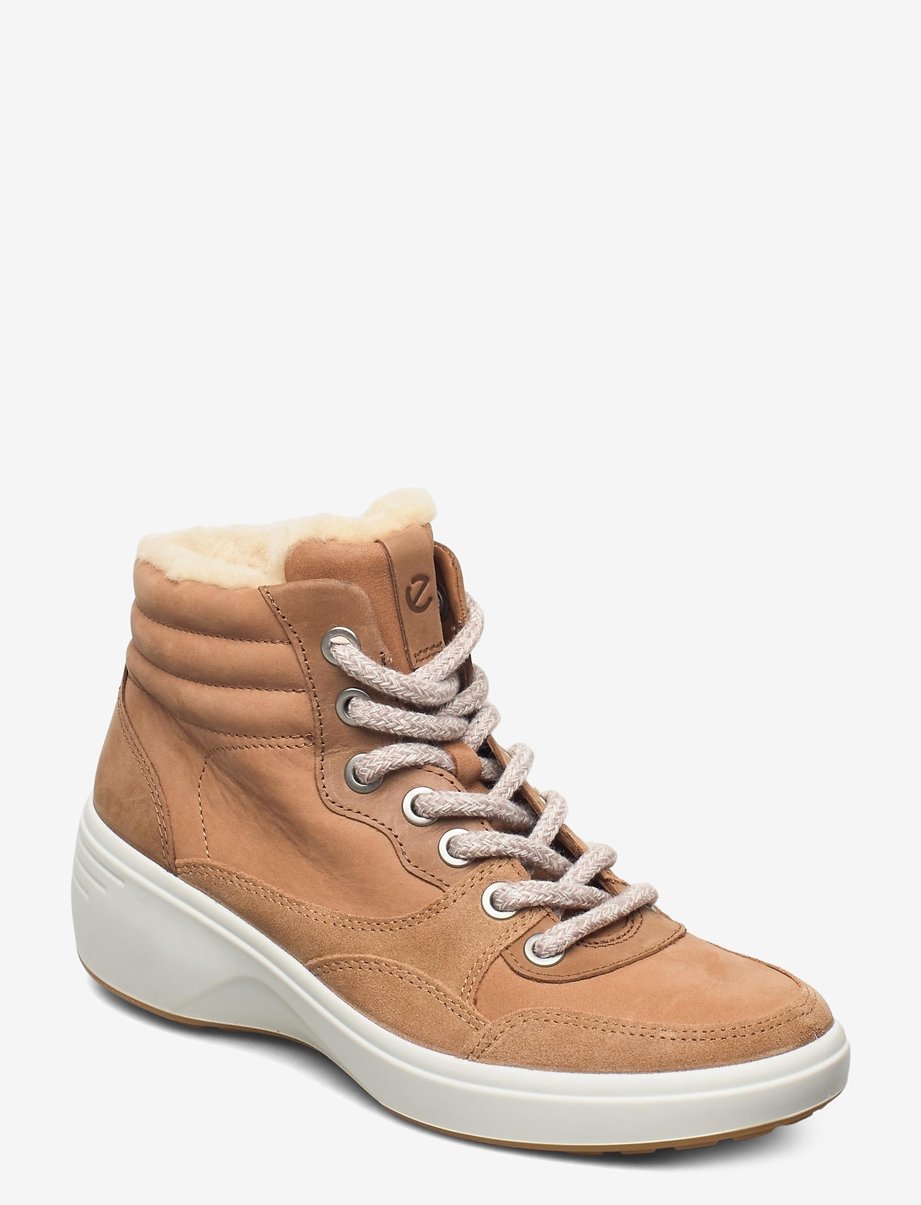 ECCO - SOFT 7 WEDGE TRED - flat ankle boots - cashmere/cashmere/whiskey - 0