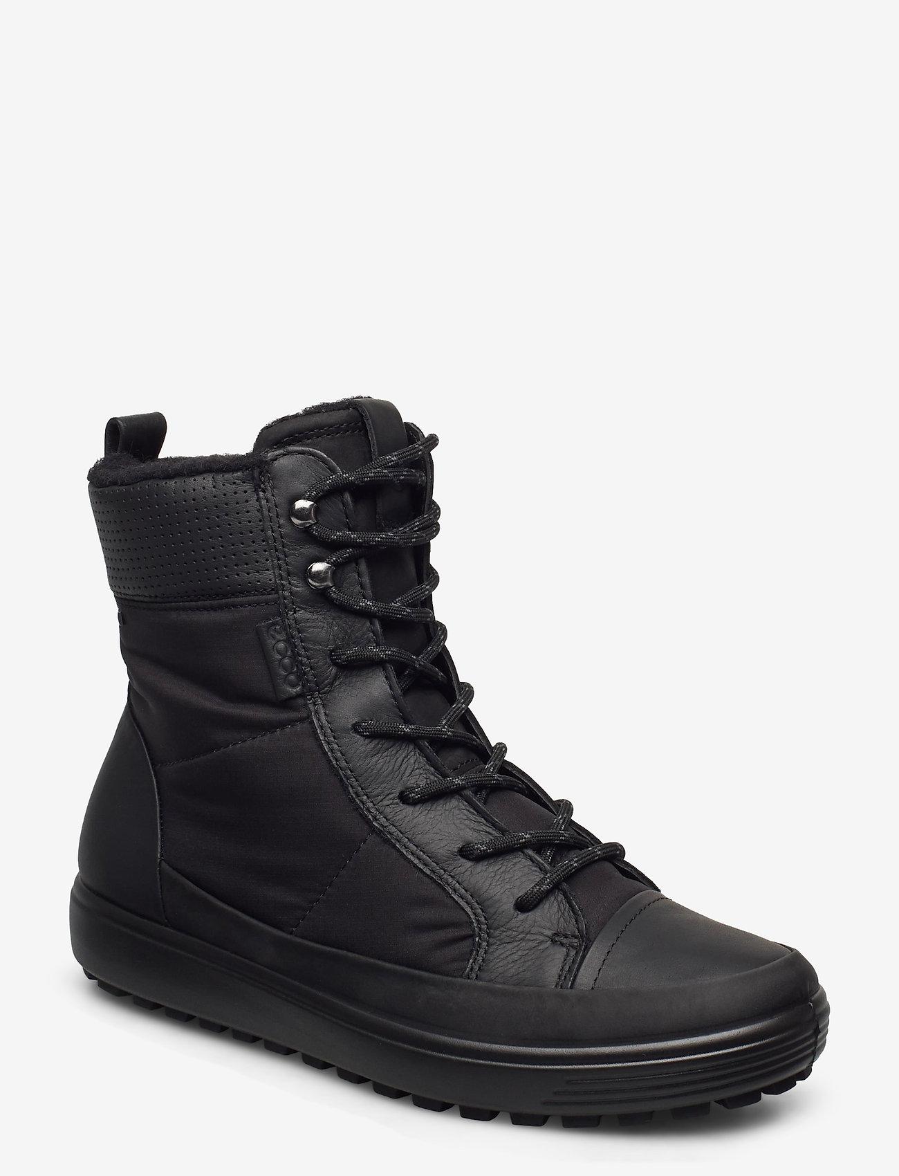 ECCO - SOFT 7 TRED W - flade ankelstøvler - black/black/black - 0