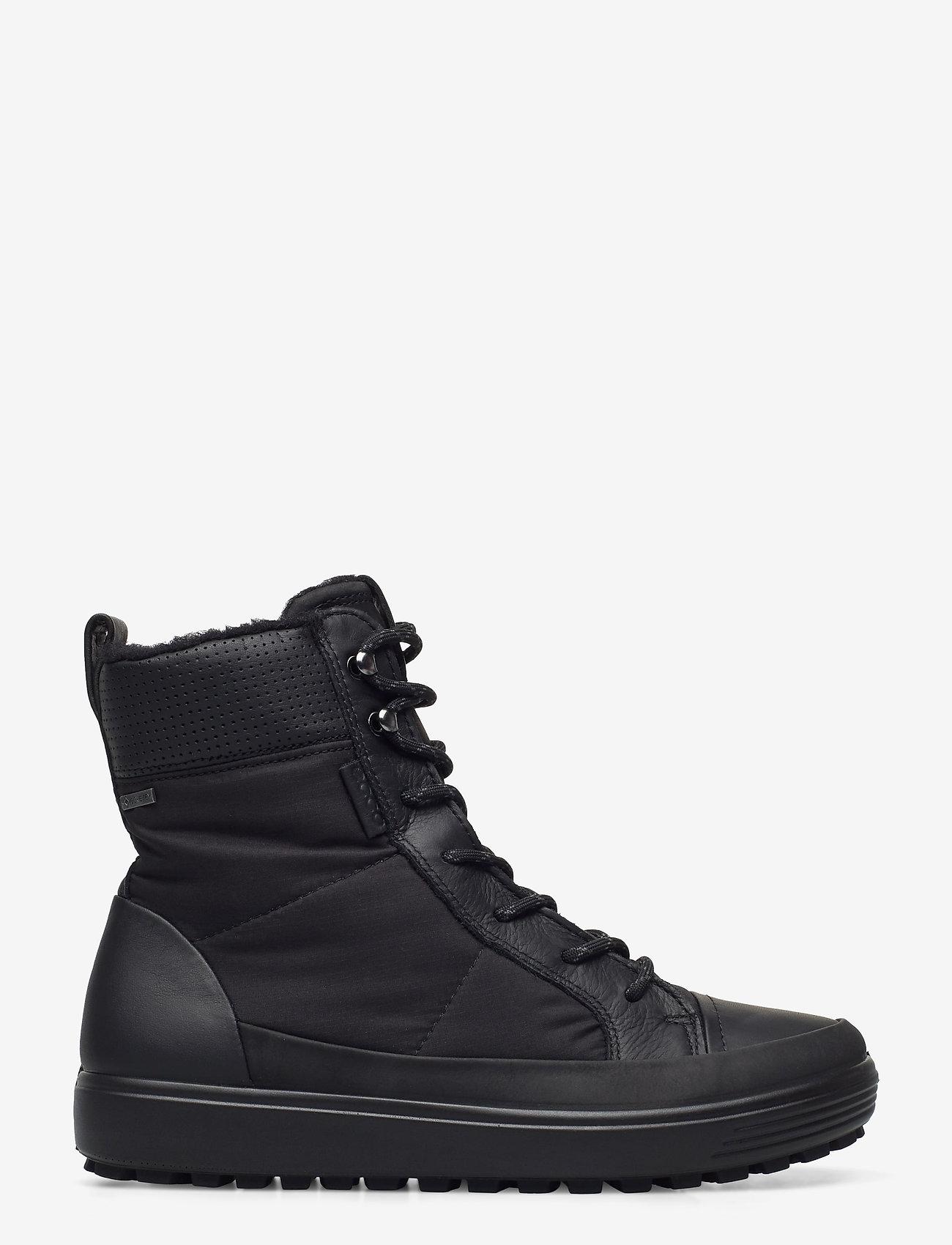 ECCO - SOFT 7 TRED W - flade ankelstøvler - black/black/black - 1