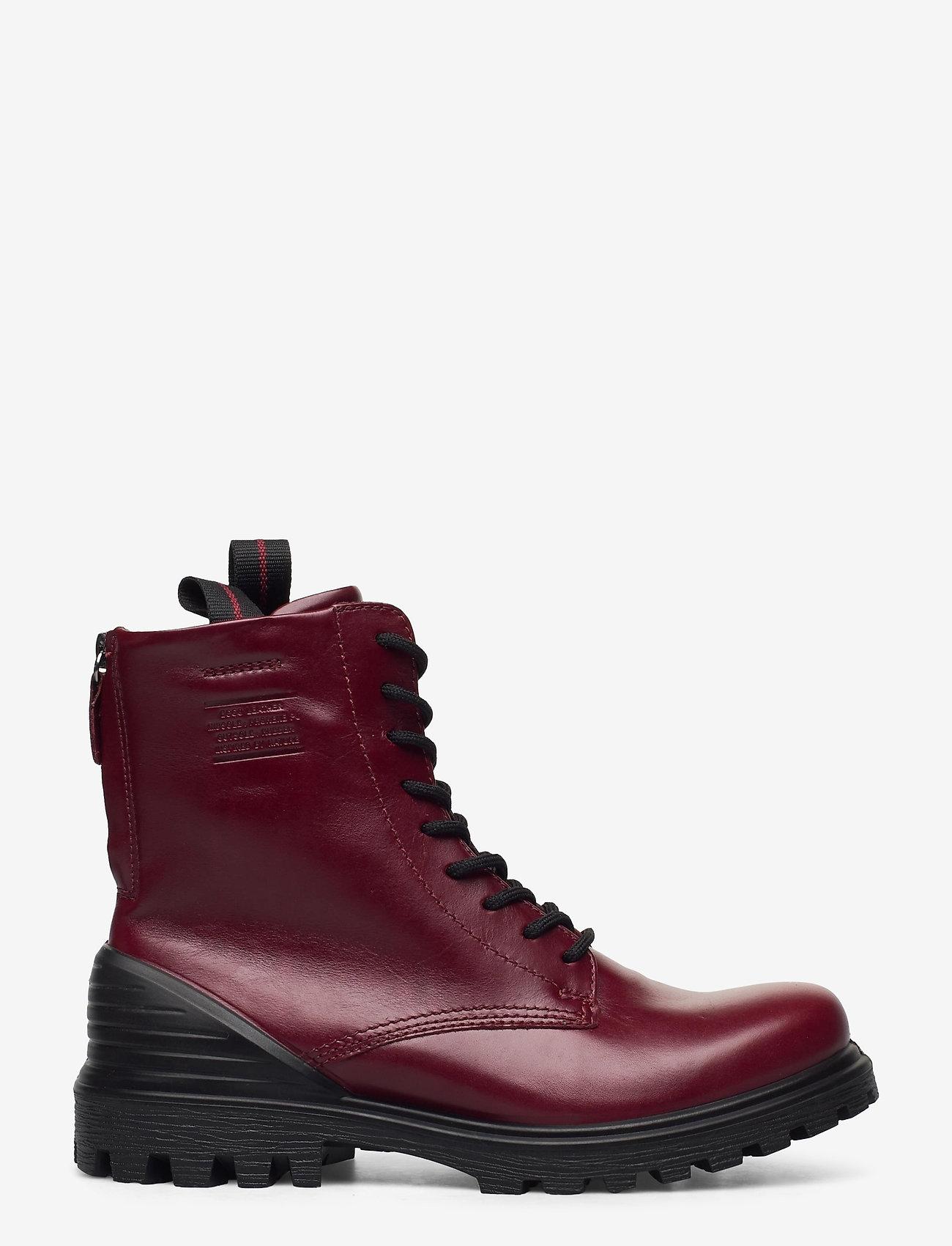ECCO - TREDTRAY W - flat ankle boots - syrah - 1