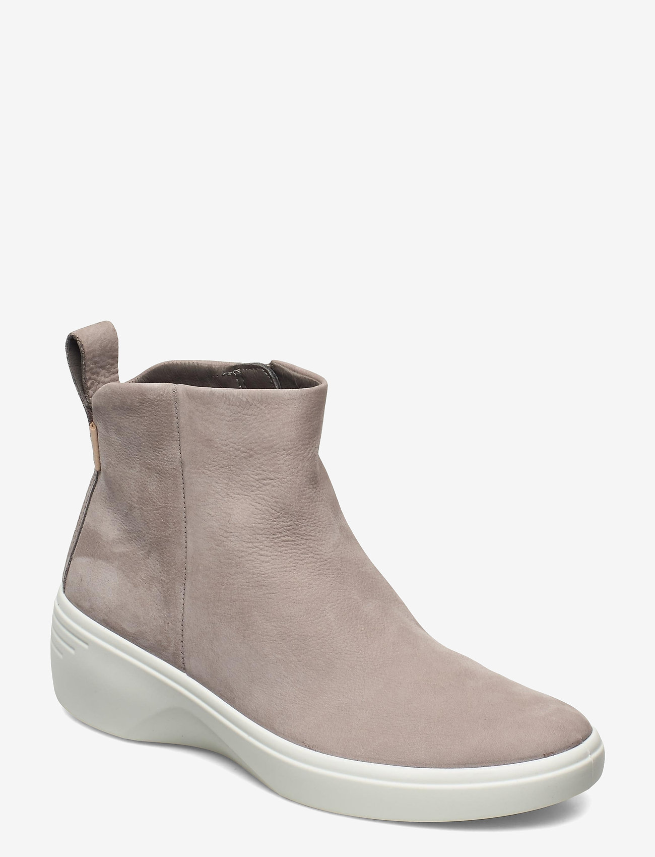 ECCO - SOFT 7 WEDGE W - platte enkellaarsjes - warm grey - 0