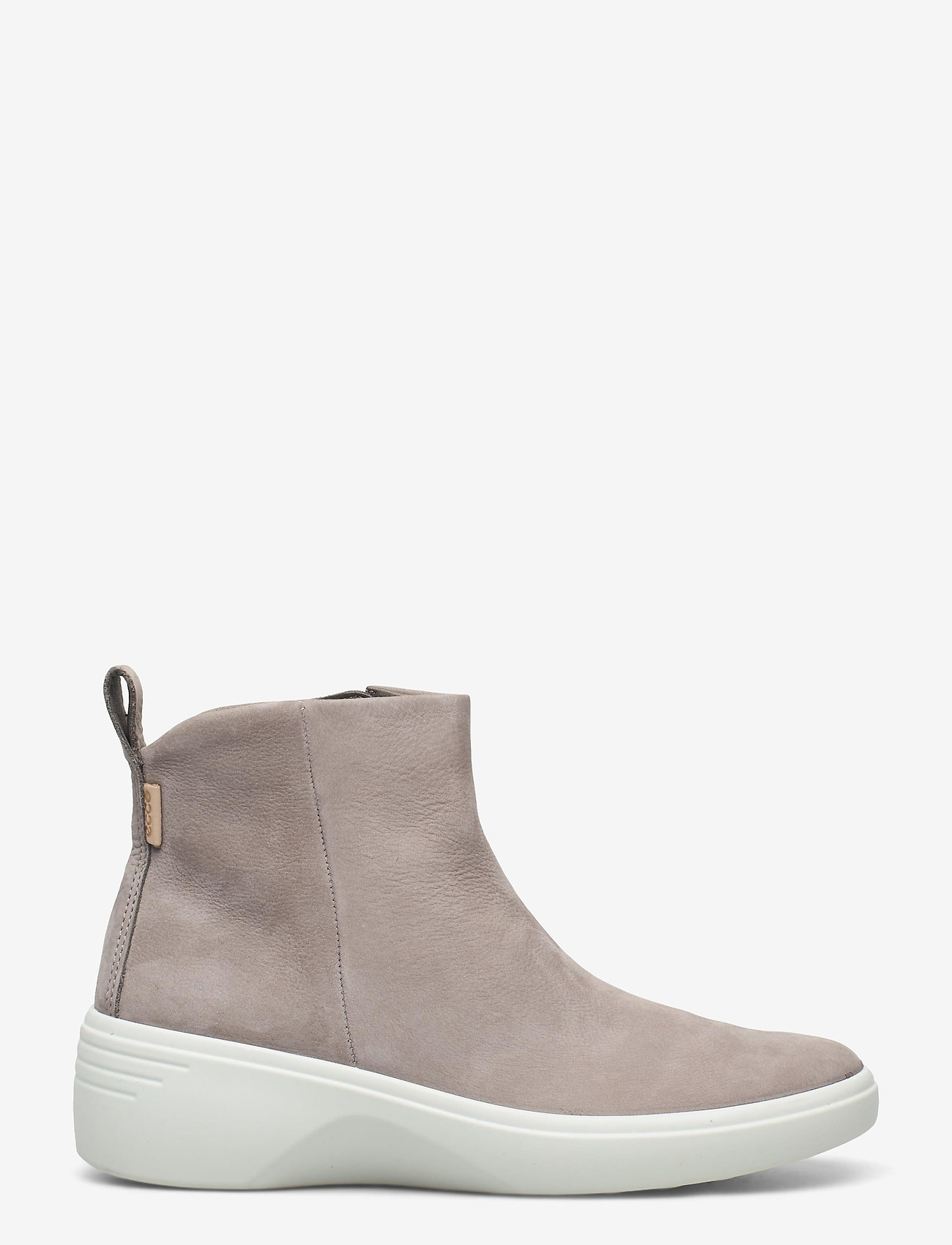 ECCO - SOFT 7 WEDGE W - platte enkellaarsjes - warm grey - 1
