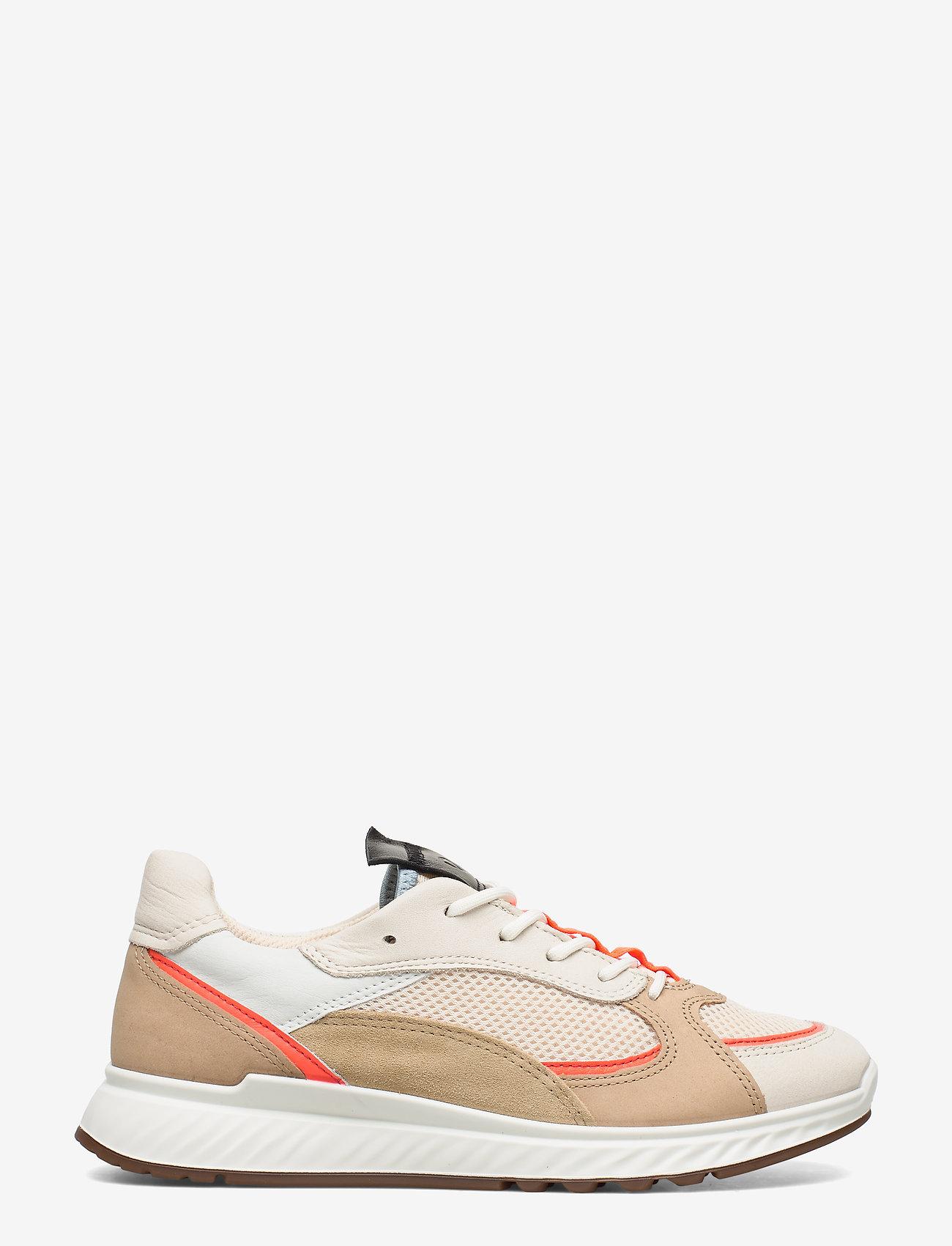 ECCO - ST.1 W - sneakers med lav ankel - vanilla/coral neon/vanilla/beige