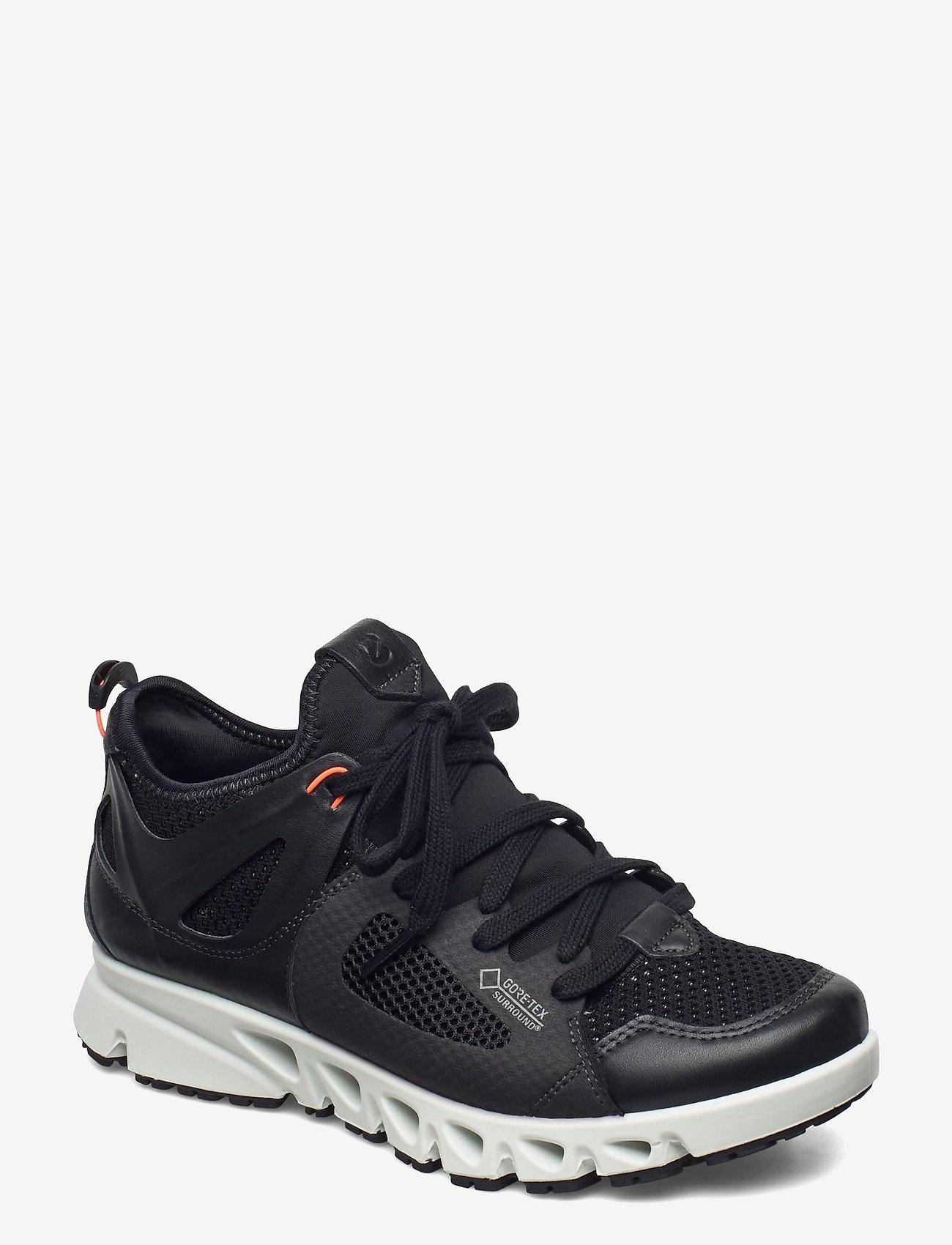 ECCO - MULTI-VENT W - lage sneakers - black/black/coral neon - 0