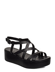 ELEVATE PLATEAU SANDAL - BLACK