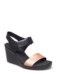 FREJA WEDGE SANDAL - MUTED CLAY/BLACK