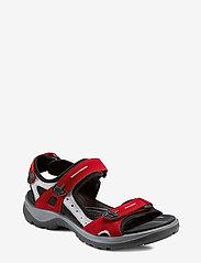 ECCO - OFFROAD - zempapēžu sandales - chili red/concrete/black - 0