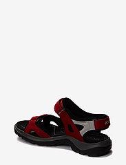 ECCO - OFFROAD - zempapēžu sandales - chili red/concrete/black - 1