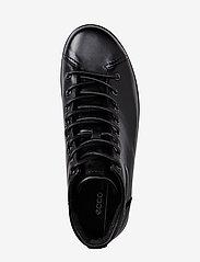 ECCO - SOFT 2.0 - sportiska stila apavi ar paaugstinātu potītes daļu - black with black sole - 2