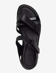 ECCO - FELICIA SANDAL - flat sandals - black/black dark shadow metallic/black - 3