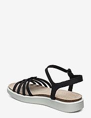 ECCO - CORKSPHERE SANDAL - flat sandals - black - 2