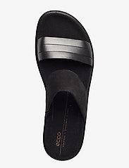 ECCO - FLOWT W - flat sandals - black dark shadow metallic/black - 3