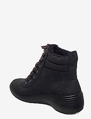 ECCO - SOFT 7 WEDGE TRED - flade ankelstøvler - black/black - 2