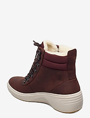 ECCO - SOFT 7 WEDGE TRED - flat ankle boots - chocolate/chocolate - 2