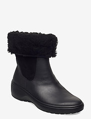 ECCO - SOFT 7 WEDGE TRED - flat ankle boots - black/black - 0