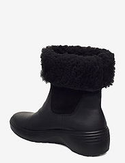ECCO - SOFT 7 WEDGE TRED - flat ankle boots - black/black - 2