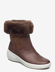 ECCO - SOFT 7 WEDGE TRED - platte enkellaarsjes - cocoa brown/cocoa brown - 0