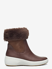 ECCO - SOFT 7 WEDGE TRED - platte enkellaarsjes - cocoa brown/cocoa brown - 1