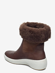ECCO - SOFT 7 WEDGE TRED - platte enkellaarsjes - cocoa brown/cocoa brown - 2