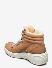 ECCO - SOFT 7 WEDGE TRED - flat ankle boots - cashmere/cashmere/whiskey - 2