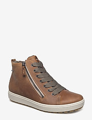 ECCO - SOFT 7 TRED W - flat ankle boots - cashmere - 0