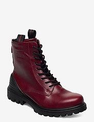 ECCO - TREDTRAY W - flat ankle boots - syrah - 0