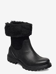 ECCO - TREDTRAY W - flat ankle boots - black/black - 0
