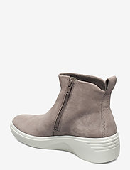ECCO - SOFT 7 WEDGE W - platte enkellaarsjes - warm grey - 2