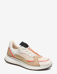 ECCO - ST.1 W - sneakers med lav ankel - vanilla/coral neon/vanilla/beige - 0