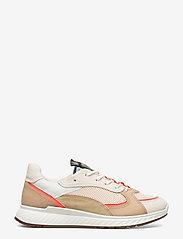 ECCO - ST.1 W - sneakers med lav ankel - vanilla/coral neon/vanilla/beige - 1