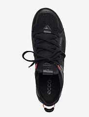 ECCO - MULTI-VENT W - lage sneakers - black/black/coral neon - 3