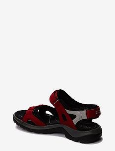 OFFROAD - płaskie sandały - chili red/concrete/black