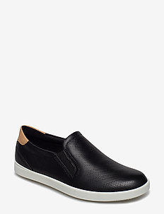 LEISURE - slip-on sneakers - black/powder