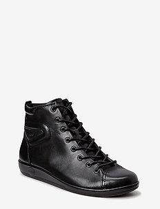 SOFT 2.0 - korkeavartiset tennarit - black with black sole