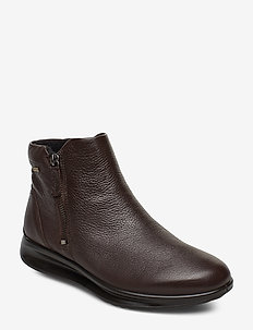 AQUET - flat ankle boots - coffee
