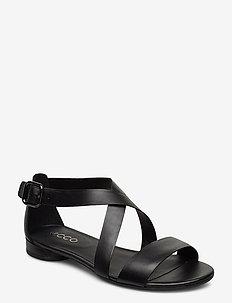 W FLAT SANDAL II - flate sandaler - black