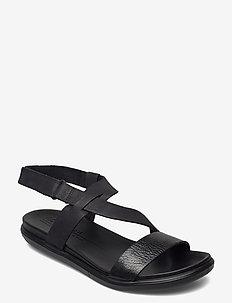 SIMPIL SANDAL - platta sandaler - black/black
