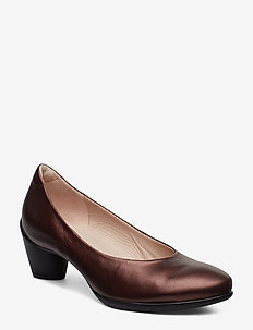SCULPTURED 45 - klassieke pumps - fig metallic